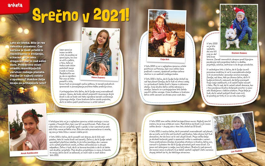 Novoletne želje naših učencev tudi v naravoslovni reviji Moj planet
